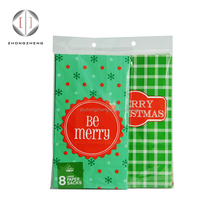 8pcs pack christmas gift paper bags with poly bags