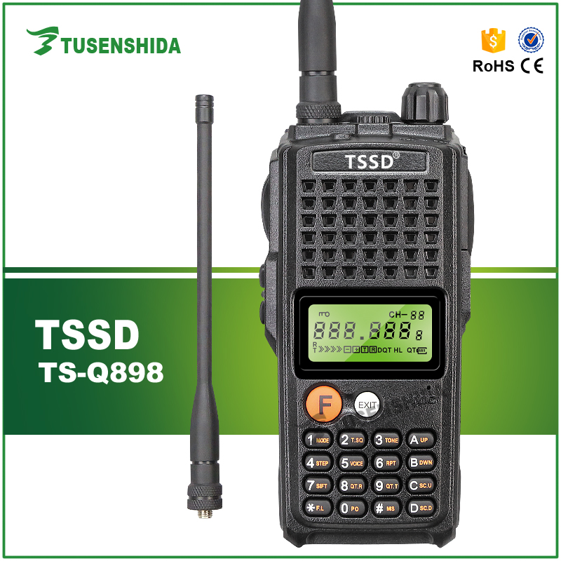 long distance 10w Amateur/huntting ham radio VHF/ UHF 15-20km high capacity 3600mAh 2 way radio with Monitor and scan function