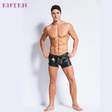 Rubber Latex Sex T-back Sexy Underwear For Men