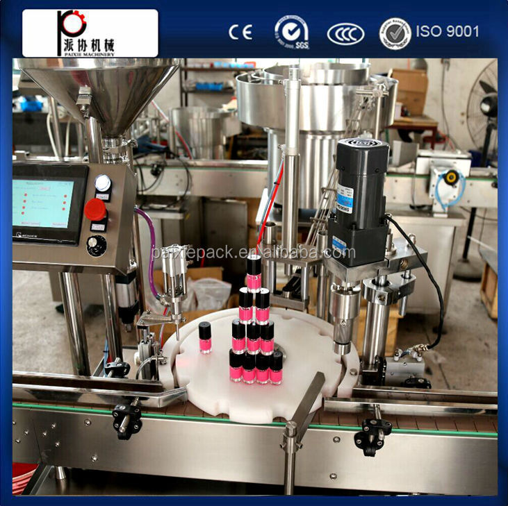 high speed automatic nail gel polish bottle filling capping machine China