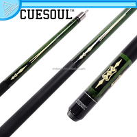 CUESOUL New 1/2 Quick Release Jointed Maple Shaft Pool Cue stick, with decal on butt