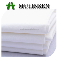 Mulinsen Textile Woven Plain Cloth Solid Dyed 40S Combed Cotton Poplin Fabric Stretch for School Uniform