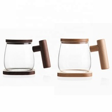 Wholesale Creative Heat Resistant 300 ml Tea Glass Cup With Coaster and Handle