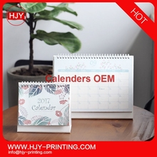 2017 New year acrylic desk calendar for promotional gifts