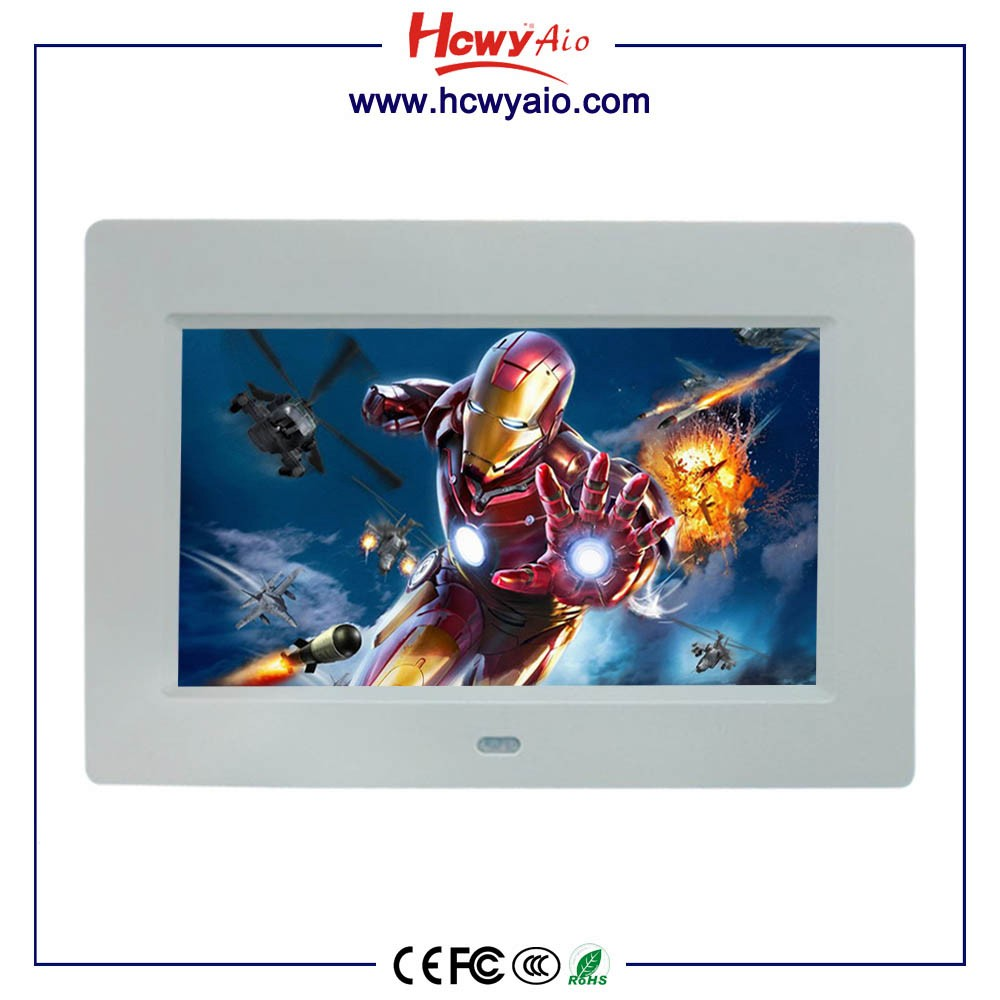 7 Inch TFT LCD Wall Mount AD Player Touch Screen for Super Market Display