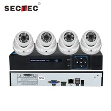 1.3MP IP Camera CCTV Kit 1080P PLC NVR Kit 4 Channel with PLC adaptors