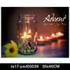 LED Lighted Candle Modern Framed Canvas Wall Art Pictures For Home Decoration