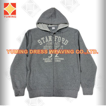 2014 Autumn Wholesale Plain grey melange Newest Men's Sweater with hoody