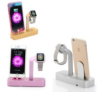 luxury mobile phone and hanging watch holder, charging aluminum stand for apple watch