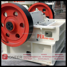 2015 stronger frame hard stone jaw crusher machine for sale