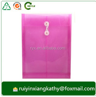 Plastic clear waterproof string closure Document bag