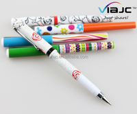 promotion plastic customize ball pen with full logo around the body