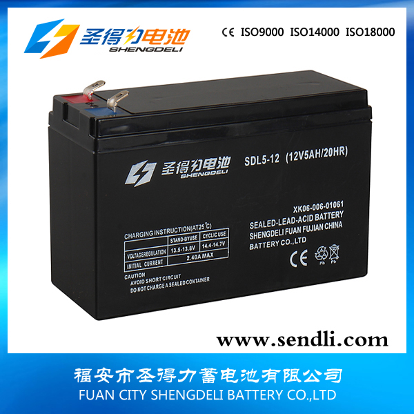 Agm lead acid ups battery 12V 5AH ABS casing CE&UL 12v5ah AGM sealed lead acid battery