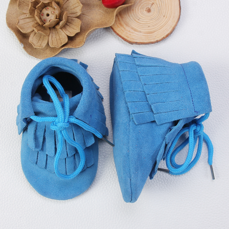 Toddler Infant Girl Boys Soft Sole Newborn Genuine Leather High Neck Wholesale Shoes Baby Moccasins