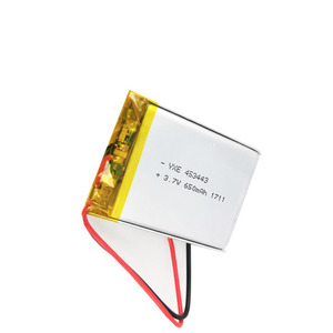 Rechargeable custom battery JP453443 lipo li-ion battery 3.7v 650mah for led light