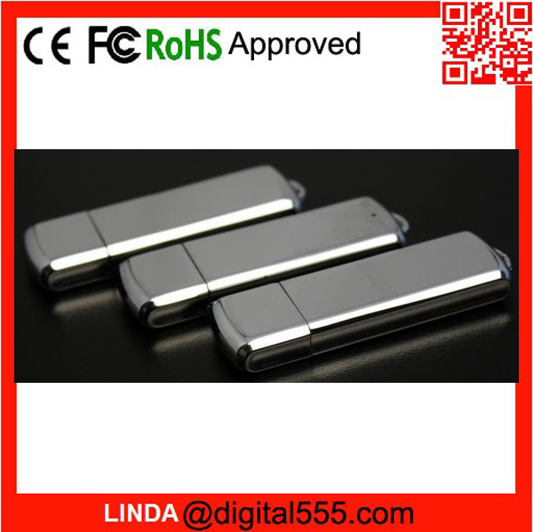 Solid chromed steel USB with Integrated keyloop make your own usb flash drive