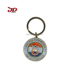 High quality metal casting eagle pattern key chain, customized souvenir promotion key ring