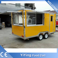 china shanghai YiYing factory supplier custom build YY-FS400D mini tractor trailer truck trailer drawbar for sale