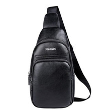 hot sale china factory waterproof PU leather waist sling bag for men