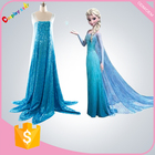 Princesse costumes elsa robe cosplay costume dans frozen cosplay costume adulte neige growwomen