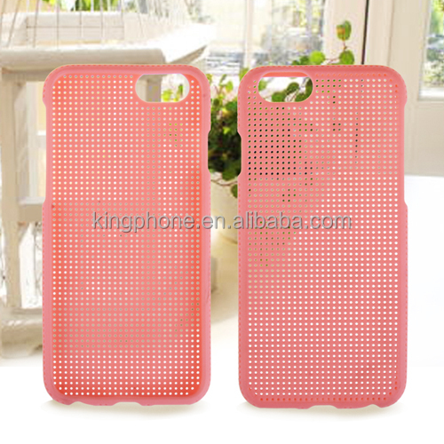 Phone case with mesh pure color mobile phone shell TPU soft back cover for iphone 6