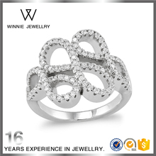 Wholesale silver jewelry fashion 925 sterling silver infinity ring symbolize infinite love -RC0412592757