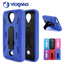 Robot shockproof kickstand case for Blu Studio 6.0 HD D650A PC Silicone hybrid combo case cover