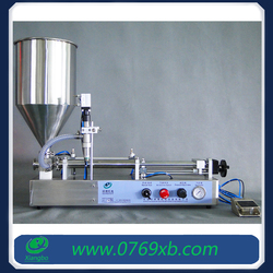 High viscosity pharmaceutical syrup filling machine with hopper