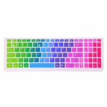 For Rainbow Asus Keyboard Covers, Waterproof Silicone Keyboard Cover for Asus K501UX K501LX