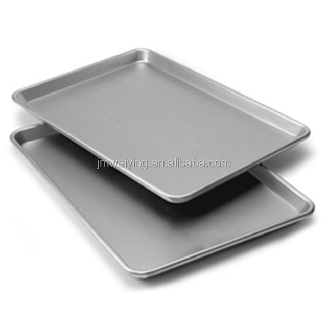 Commercial Full-Size Sheet Pan Non-Stick Cookie Sheet Tray Made of Black Aluminum for Home Kitchen and Catering