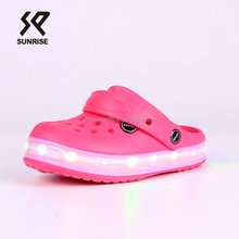 2018 Kids Garden Shoe Led Flashing Shoe Light