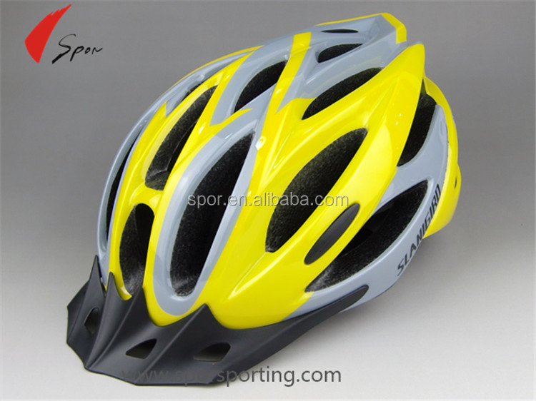Cool Light Weight Sharp Yellow Color Air Flow Design Bicycle Helmet