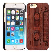 Wholesale Handmade for wood iphone 5 case,for wood iphone 6 case ,for wood case iphone 6 5 with logo engraved