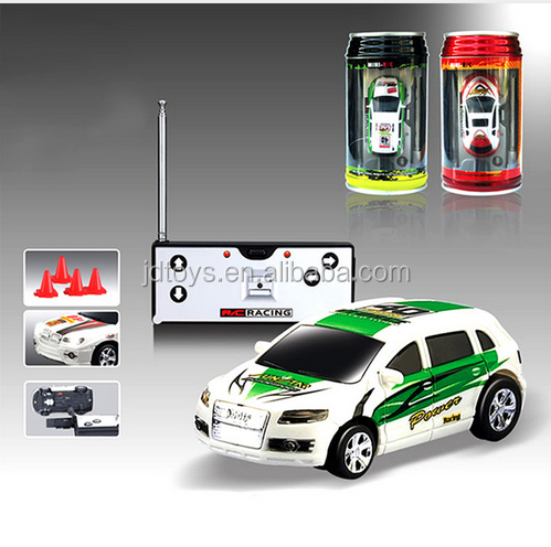 48pcs/lot High-tech Mini Coke Cans RC Radio Speed Remote Control 4CH Micro Racing Car Hobby Vehicle fun game kids baby Toy Gift