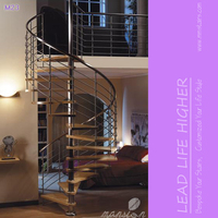 Prefabric Indoor Attic Stainless Steel Spiral Stairs