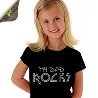 My Dad Rocks Rhinestone Transfer for Fathers' Day Tshirt