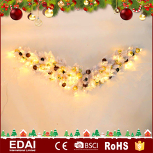Personalized outdoor LED lighted christmas wreath gift PVC garland wall decor
