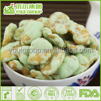 HACCP,ISO,BRC,HALAL Certification Wasabi Broad Bean Chips with great quality