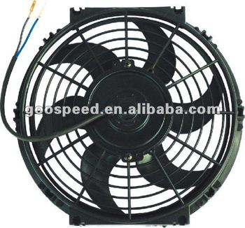 "7""-16"" Slim Electrical radiator cooling Fan 12v dc"