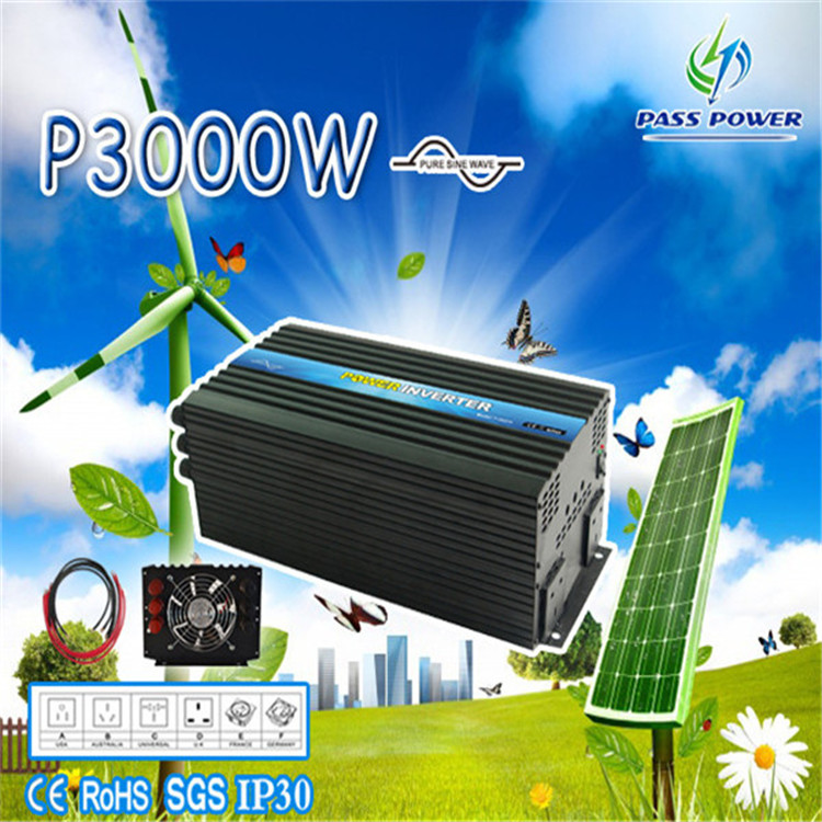CE standards ,3000w/3kw pure sine wave power inverter with remote control