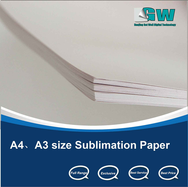 fabric transfer paper A3/4 /roll Fabric dye sublimation Paper for mouse pad/ mugs/textile