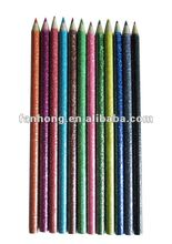glitter printing wooden color pencil