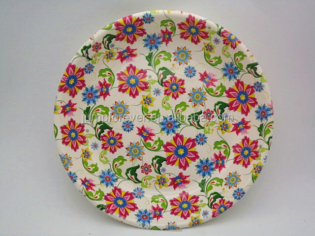 Plastic Personal home decor round wholesale serving tray