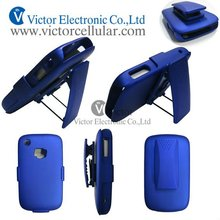 PC rubberized case with rotatable holder for Blackberry 8520