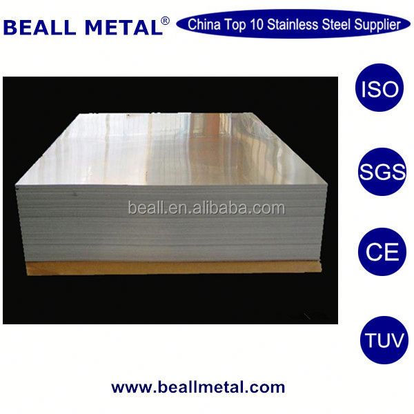 Mirror sand blast hair line finished stainless steel sheet