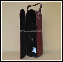 bottle leather wine carrier,leather wine bag carrier, pu leather wine carrier