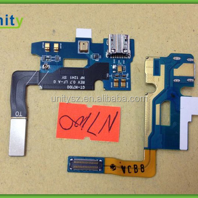 USB Charger Port + Microphone Flex Cable For Samsung Galaxy Note 2 / II GT-N7100 , cell phone