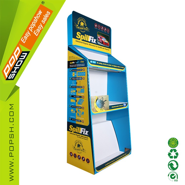 Optional Printed Advertising Rotating shot glass cardboard display stand