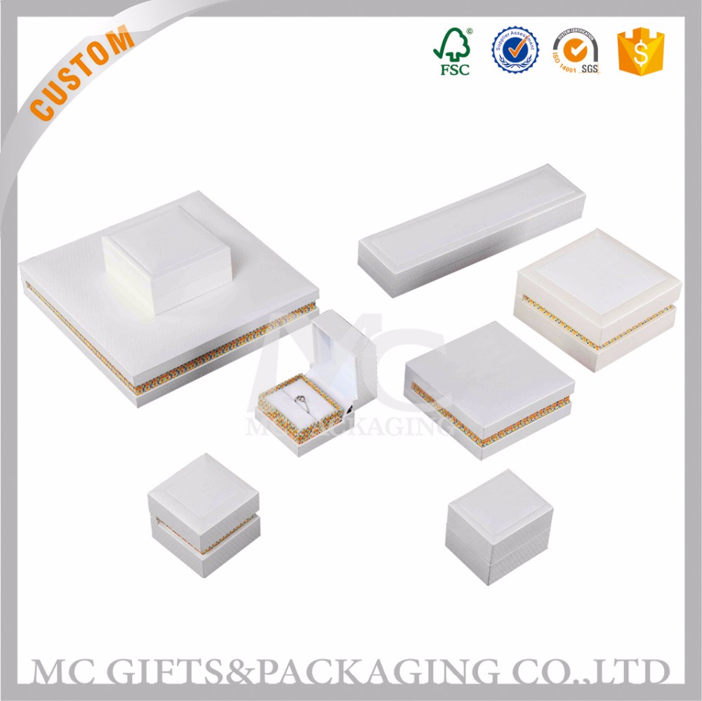 Bulk sales box packaging custom paper jewelry paper box