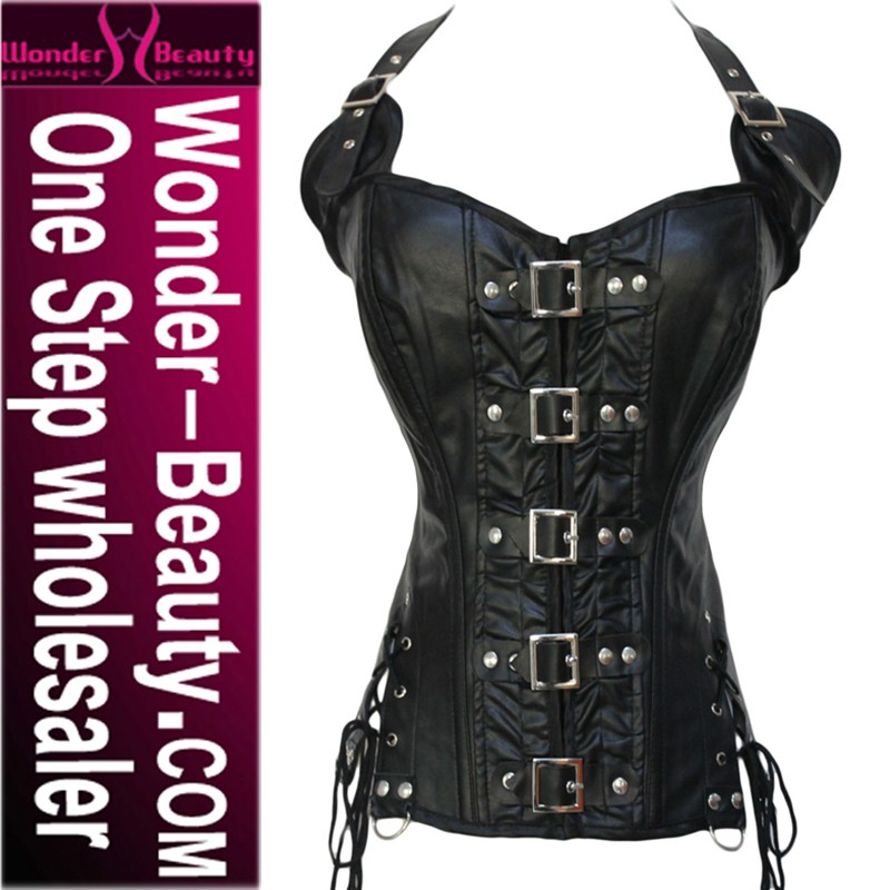 leather hot vacodo corsets from China